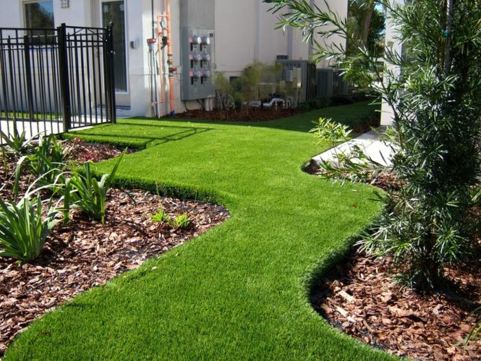 idee jardin gazon synthetique