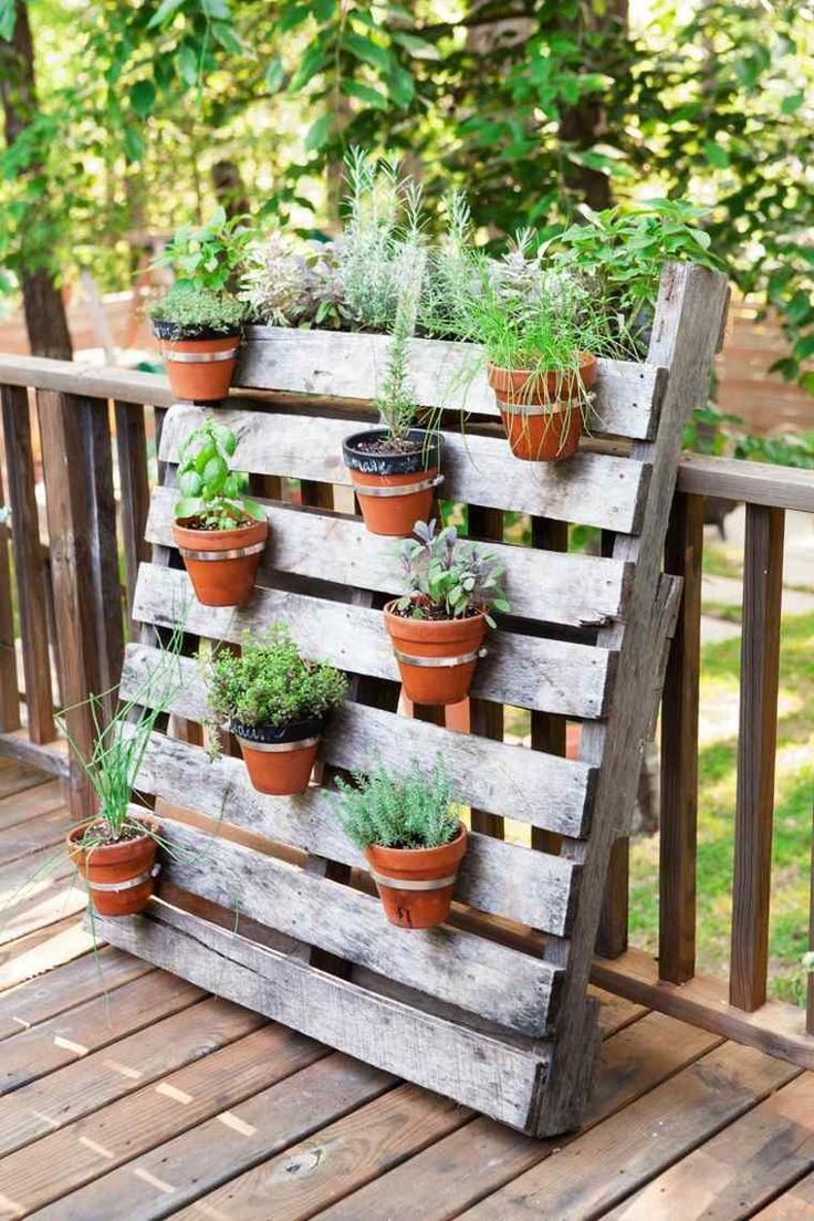 idee jardin palette