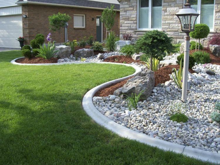 idee jardin pierre