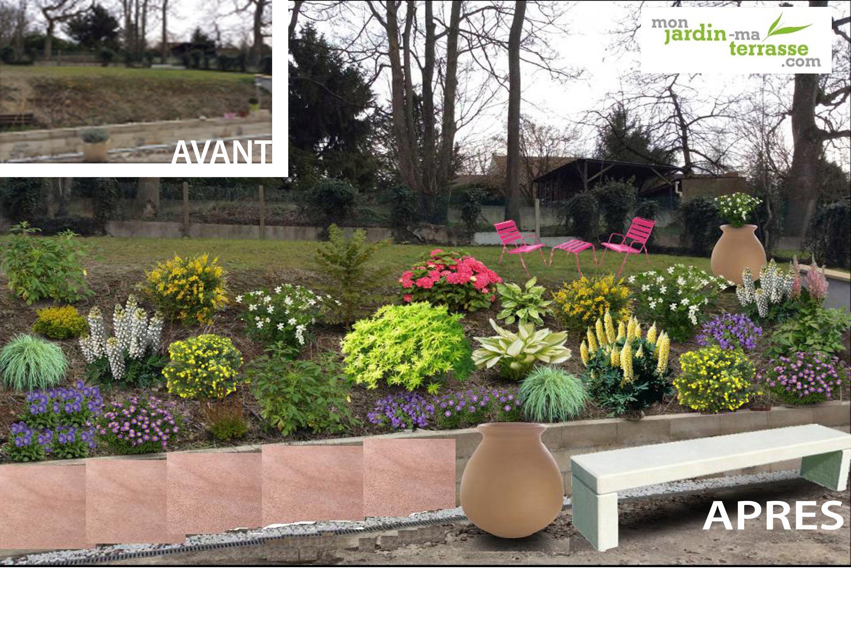 idee jardin talus